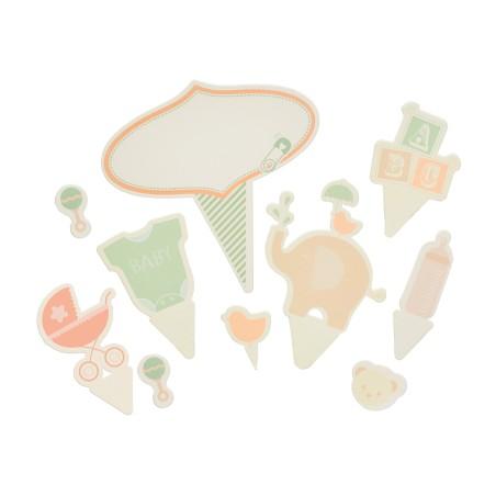 Décorations pour gâteaux - thème bébé