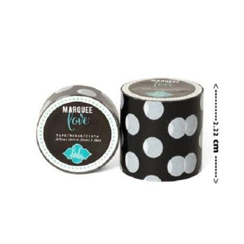 Masking tape / Washi tape fantaisie noir et blanc