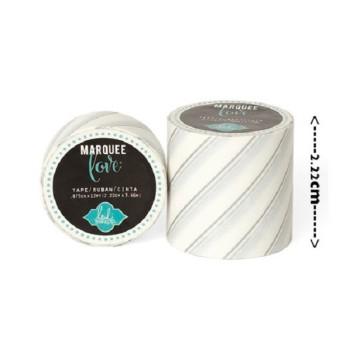 Masking tape / Washi tape fantaisie blanc et argent