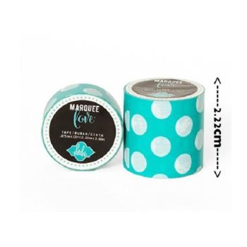 Masking tape / Washi tape fantaisie bleu et blanc