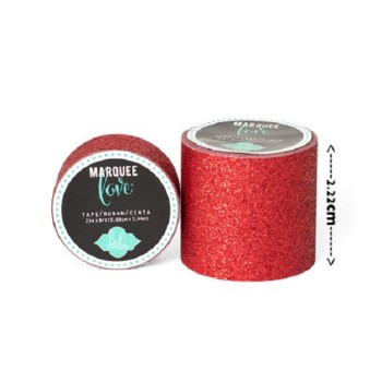Masking tape / Washi tape fantaisie rouge  brillant