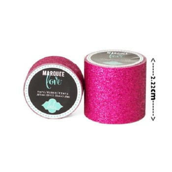 Masking tape / Washi tape fantaisie rose fuschia brillant