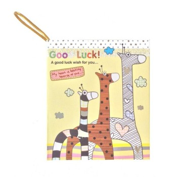 "Carte cadeau illustrée ""Good luck"""