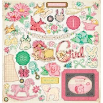 "Embellissements vintage  ""Baby girl"""