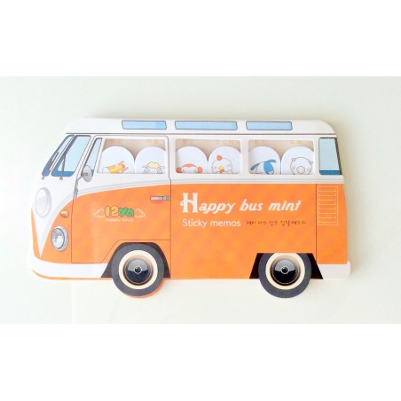 Happy bus - Mini bloc notes mémo fantaisie