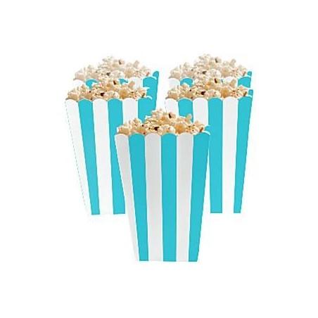 Set de 5 boîtes à popcorn - coloris bleu et blanc