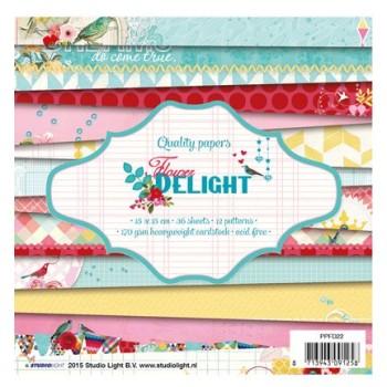 """Bloc de papier / Paper pad scrapbooking  - """" Flower Delight """""""