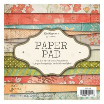 Bloc de papier / Paper pad scrapbooking n9