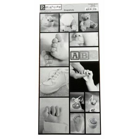 Planche de 13 stickers Snapshots Baby Classic