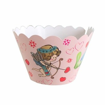 "Lot de 12 caissettes décoratives "" Love ""  - cupcake wrap"