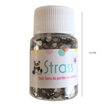 Strass 3 mm - coloris gris  - Environ 1900 strass