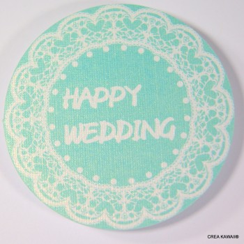 """Toppers"" décoratifs pour cupcakes - Happy wedding"