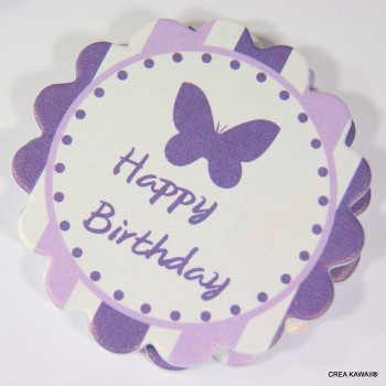"""""""Toppers"""" décoratifs pour cupcakes - Happy birthday"""