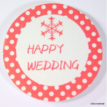 """Toppers"" décoratifs pour cupcakes - Happy wedding snow"