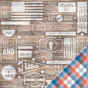 Papier à motif Home of the Brave Americana - Le pays des braves