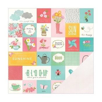 Papier à motif Poppy coquelicot garden party