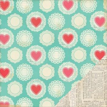 Papier à motif Love Notes Dearest