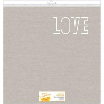 Papier découpé  lettre d'amour - Love letters die cut paper