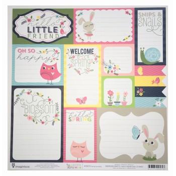 Papier à motif Spring journaling - Welcome spring