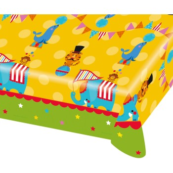 "Nappe plastifiée ""Circus Party"" 1.80 mètre"