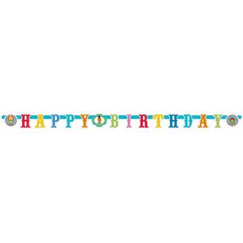 """Guirlande """"Happy Birthday"""" Circus party 1.80 m"""