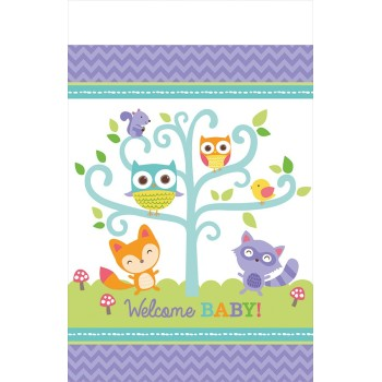 "Nappe plastifiée ""Woodland Welcome ""  2.59  mètre"