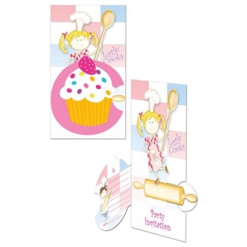 Set de 8 cartes d'invitation et enveloppes Little Cooks