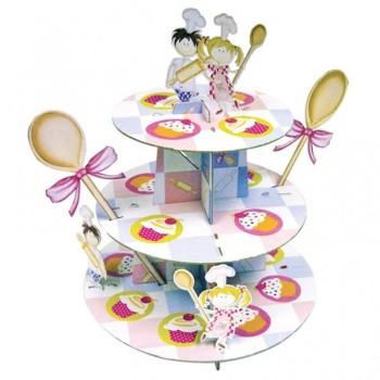 Présentoir à cupcakes 3 étages Little Cooks