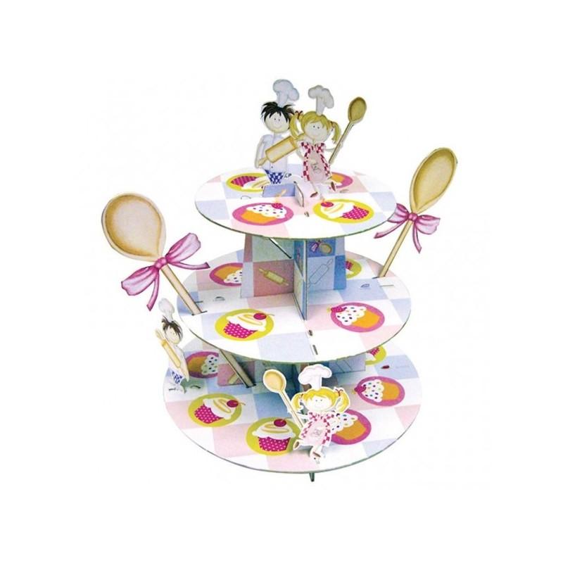 Présentoirs à cupcakes 3 étages Little Cooks