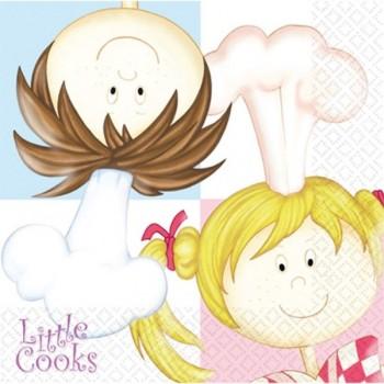 16 serviettes en papier Little Cooks