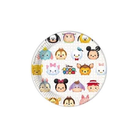 Lot de 8 assiettes de fête Tsum Tsum
