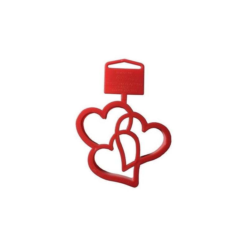 Emporte pièce triple coeur