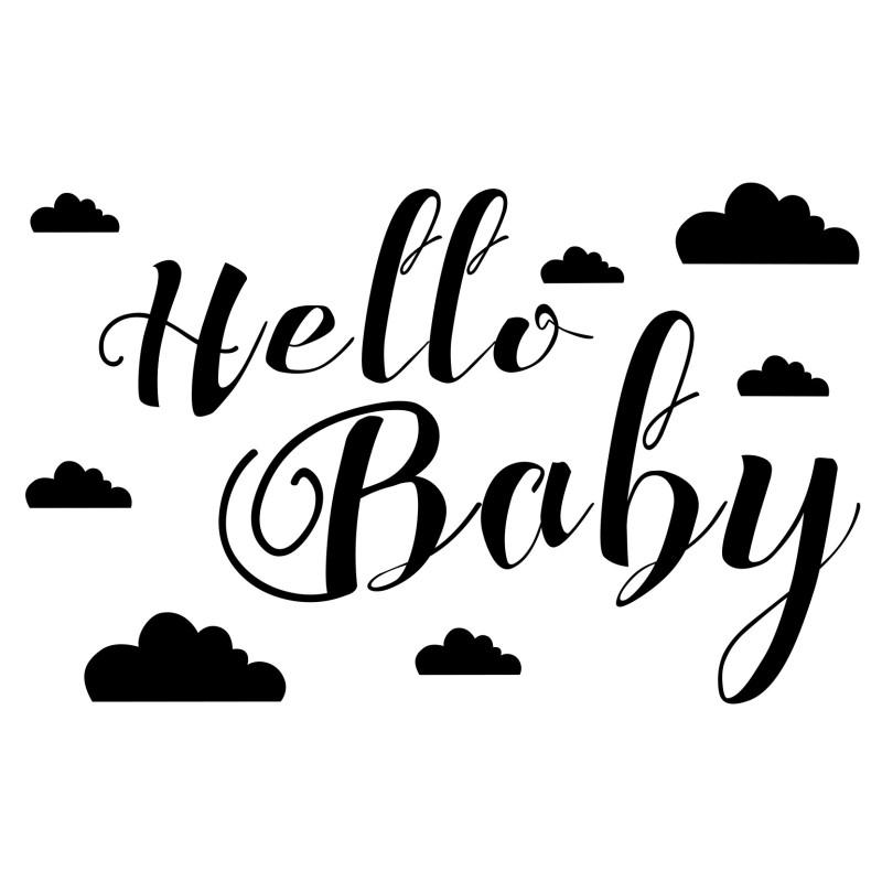 Tampon en Bois Hello Baby