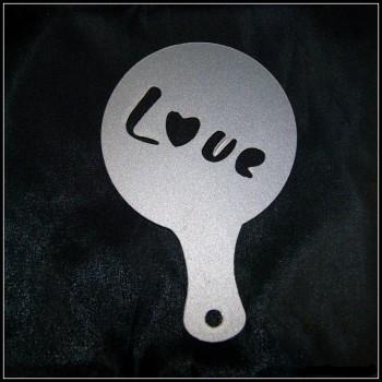 Pochoir déco à cappuccino et café Love