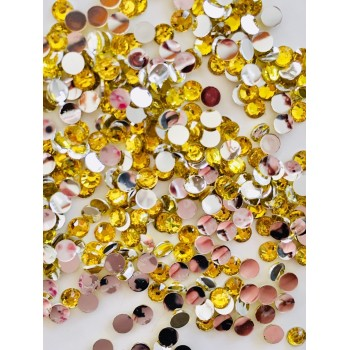 Strass 3 mm - coloris Jaune - Environ 1900 strass