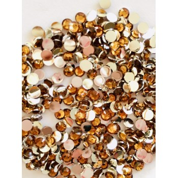Strass 3 mm - coloris café - Environ 1900 strass