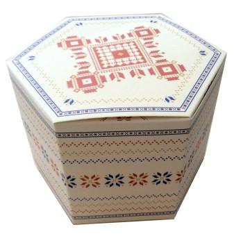 Boîte à pâtisseries et chocolats avec motifs
