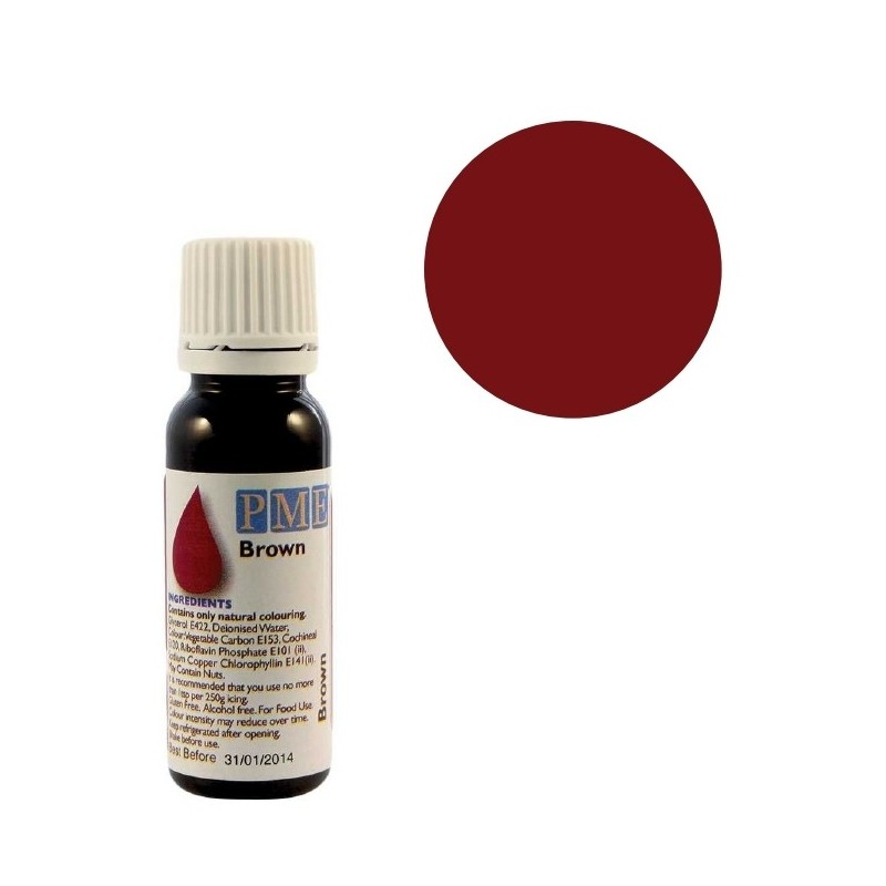 Colorant naturel liquide - marron - 25 gr