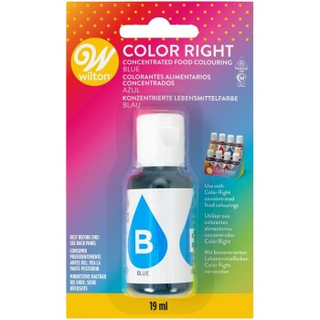 Colorant alimentaire liquide Wilton color right - bleu -19 ml