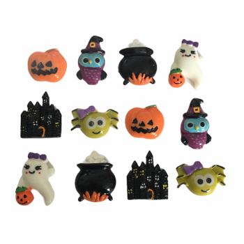 Embellissements 3D thème Halloween - set de 12 pièces
