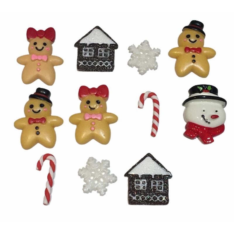 Embellissements 3D thème Noël - set de 11 pièces
