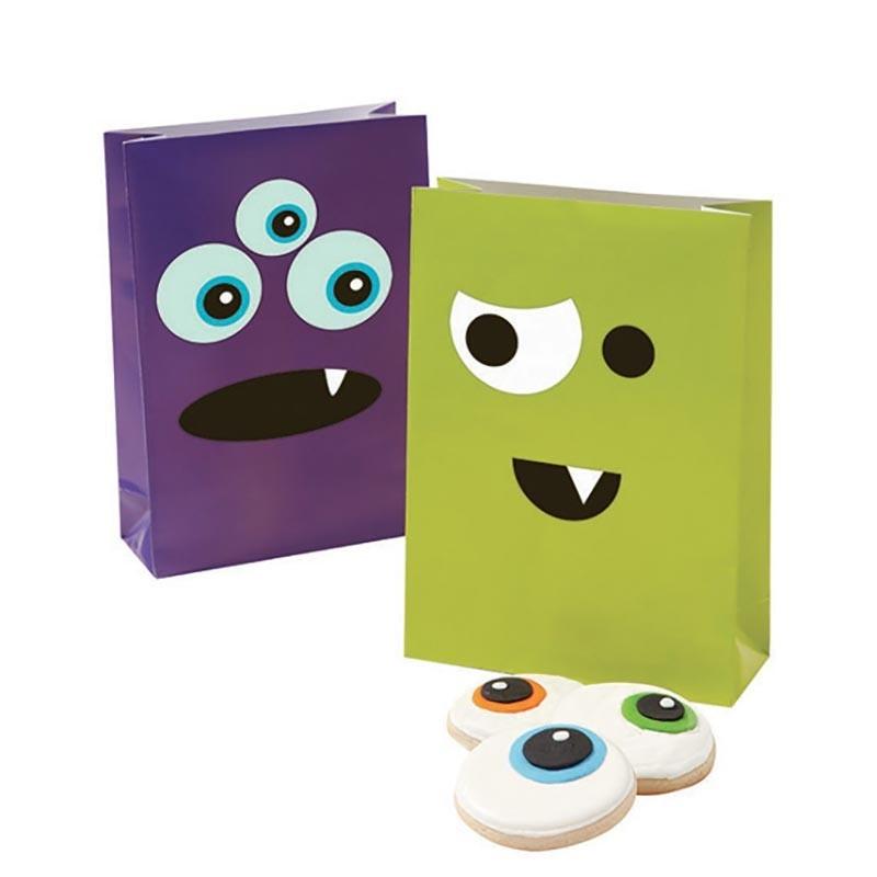 Sachet fantaisie petit monstre à customiser - 4 pièces