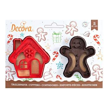 Emporte pièce Mr Biscuit et Maison pain d'épices