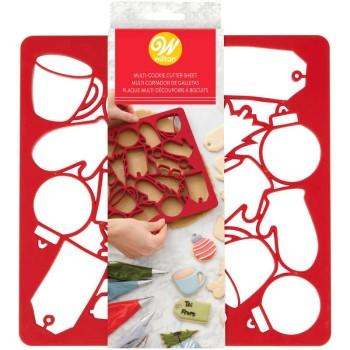Plaque de 14 emportes pièces de Noël