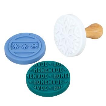 Set tampons pour biscuits interchangeables - thème Noël