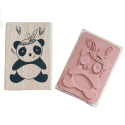 Tampons créatif en bois - panda assis