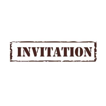 Tampons créatif en bois - invitation