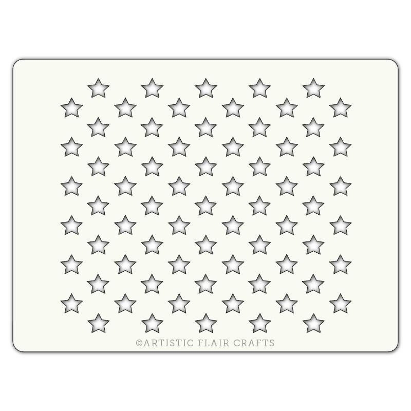 Pochoir pour pâtisseries et chocolats -  motif étoiles