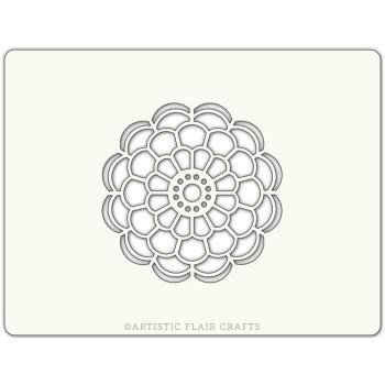 Pochoir pour pâtisseries et chocolats -  motif Mandala fleur