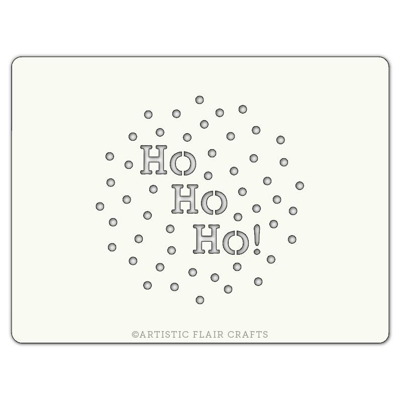 Pochoir pour pâtisseries et chocolats - motif Noël
